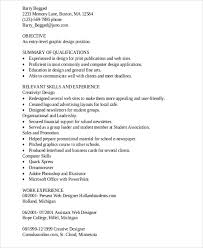 qualifications for graphic designer resume example graphic design