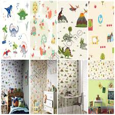 animals wallpaper kids bedroom dinosaurs fox owls rabbits