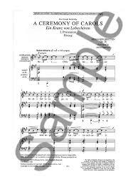 benjamin britten a ceremony of carols op 28 satb piano