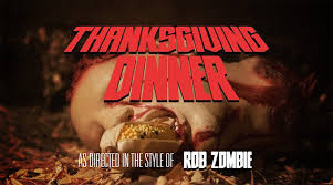 thanksgiving dinner as directed in the style of rob