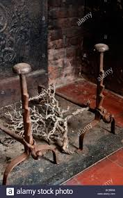 old fireplace insert with gnarled twigs stock photo royalty free
