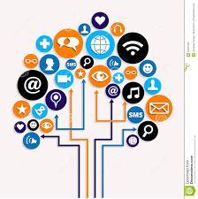 social media networks business tree plan stock photos image