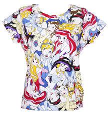 ladies runs disney princess print shirt