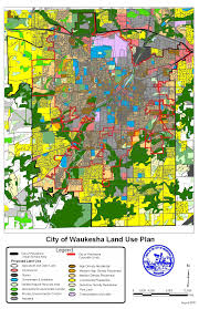 Wisconsin City Map by Comprehensive Plan Waukesha Wi