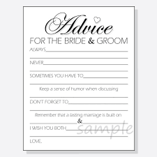 words of wisdom for and groom cards diy advice for the groom printable cards for a shower