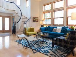 blue sofa living room photo page hgtv
