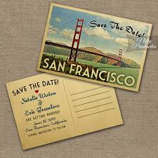 save the dates postcards san francisco save the date postcard vintage travel san