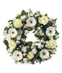 funeral wreaths white wreath tribute