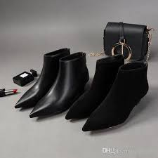 womens size 12 casual boots 2018 and fall pointed toe boots ankle shoes