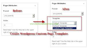 create wordpress custom page template