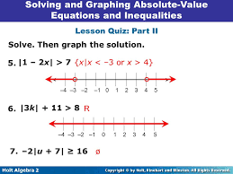 solving absolute value equations and inequalities worksheet 2 8