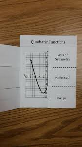 quadratic functions foldable this foldable covers domain and