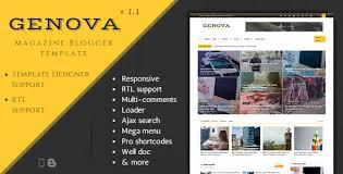 genova u2013 news u0026 magazine responsive blogger template free download