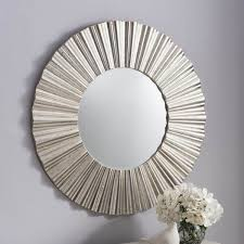 Circle Wall Mirrors Cardew Modern Silver Round Mirror Livingroom Pinterest Round