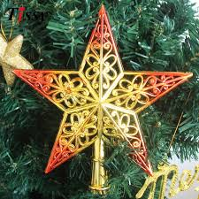 new 1pc 2colors tree topstar ornaments plated plastic