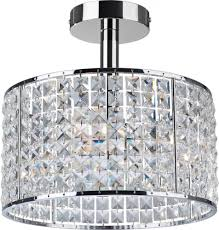firstlight 6152 pearl 4 light chrome and crystal bathroom ceiling