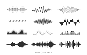sound wave illustration silhouette vector download