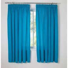 Bright Blue Curtains Simplistic Yet Bright Blue Curtains 168 X 137cm