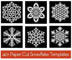 free 40 paper snowflake templates paper snowflake