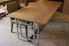 kitchen stainless steel dining table set distressed dining table