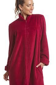 robe de chambre chaude pour femme robe de chambre douce en polaire fermeture éclair framboise