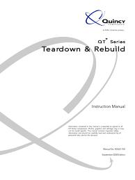 quincy compressor qt series repair manual 50365 100sep08 piston