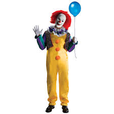 clown costumes it deluxe pennywise clown costume buycostumes