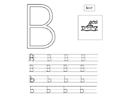 trace letter b worksheets activity shelter