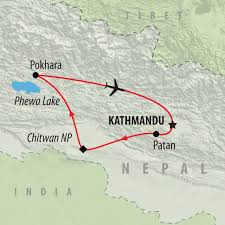 Map Of Nepal India by Nepal Tours And Trekking Holidays On The Go Tours