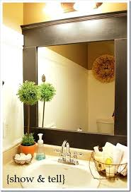 Home Depot Bathroom Mirror Framed Bathroom Mirrors Stained Wood Mirror Home Depot Linked
