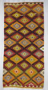 Kilim Area Rug Handwoven Vintage Colourful Turkish Kilim Area Rug 0048