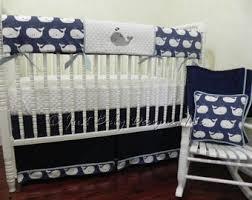 Navy Crib Bedding Nautical Crib Bedding Etsy