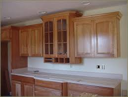 How To Install Crown Molding On Kitchen Cabinets Red Oak Wood Espresso Prestige Door Installing Crown Molding On