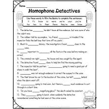 homophone worksheet u0026 activity pack with detectives educents