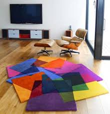 Bright Colored Area Rugs Beautiful Tile Rugs Sonya Winner Many Color Unusual Shape Teal Rug