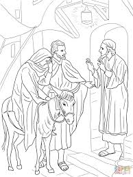 no room at the inn for mary and joseph coloring page free