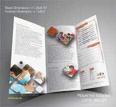 tri fold school brochure template free tri fold brochure template for school project pan card
