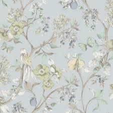 bird wallpaper holden décor damsen floral pattern bird countryside metallic gold