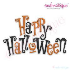 happy halloween clipart embroitique happy halloween creepy words embroidery design