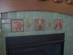 Motawi Tile Backsplash by Fun Fireplace Design With Different Colors And Sizes Of Motawi