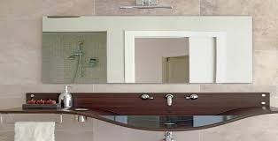 how to install a frameless wall size mirror
