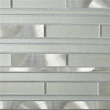 glass mosaic tile kitchen backsplash white and silver interlocking metal glass mosaic tile kitchen