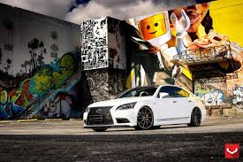 lexus ls 460 lowered white lexus ls 460 f sport riding high on 22
