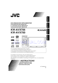 user u0027s manual for car stereo system jvc exad kw avx 700 download free