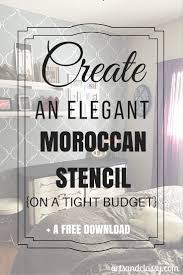 How To Paint An Accent Wall by Makeover Edition How To Paint A Moroccan Stencil Accent Wall