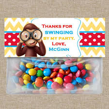 Birthday Favor Ideas by Curious George Photo Booth Props Package Printable Edition