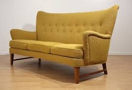 early scandinavian wingback sofa for sale at 1stdibs