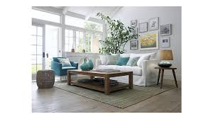 crate and barrel lounge sofa slipcover slipcover only for willow sofa crate and barrel with small benches