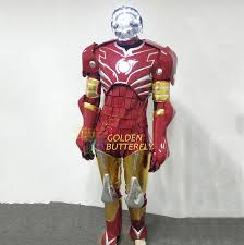 mardi gras men robot costumes led mask men luminous suit led show