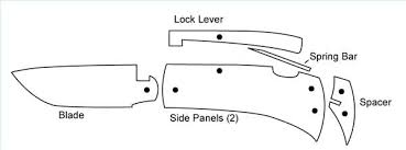 Printable Knife Templates Pocket Knife Patterns Printable Pictures To Pin On Pinterest